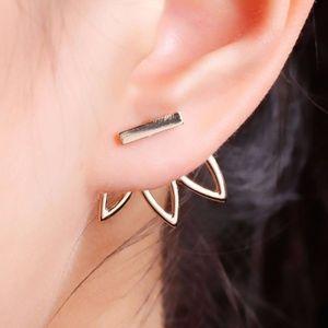 Lotus Bar Earrings (Gold)